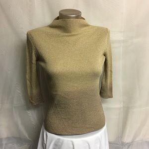 Boatneck vintage gold ombré sweater